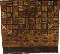 Tocapu Tunic Inca A.D. 1450-1530 Camelid fibers, cotton Height 23 ¼ in. Width (at top) 26 ¼ in.  Woven in...