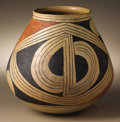 Native American:Pottery and Baskets, Casas Grandes Polychrome Pottery Jar. Circa 1200-1450 AD. Height 93/4 in. Diameter 9 in.. This excellent example features...