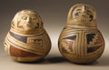 Native American:Pottery and Baskets, Two Casas Grandes Polychrome Effigy Jars. Circa 1200-1450 AD.(A)Height 7 1/4 in. Diameter 6 1/2 in.. (B)Height 8 1/8 in. Di...(Total: 2 Items)