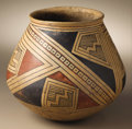 Native American:Pottery and Baskets, Casas Grandes Polychrome Pottery Jar. Circa 1200-1450 AD. Height 81/4 in. Diameter 8 1/2 in.. This classic example featur...