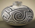 Native American:Pottery and Baskets, Tularosa Black on White Pottery Jar. Circa 1100-1250 AD. Height 123/4 in. Diameter 16 in.. This large, classic example is...