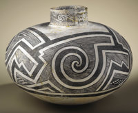 Tularosa Black on White Pottery Jar Circa 1100-1250 AD Height 12 3/4 in. Diameter 16 in.  This large, classic example is...