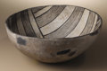 Native American:Pottery and Baskets, Mimbres Black on White Pottery Bowl. Circa 900-1000 AD. Height 51/4 in. Diameter 12 3/4 in.. This classic example is pain...