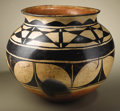 Native American:Pottery and Baskets, Santo Domingo Polychrome Pottery Jar. Circa 1890. Height 17 in.Width 17 1/2 in.. This large storage jar is of classic for...