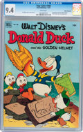 Golden Age (1938-1955):Funny Animal, Four Color #408 Donald Duck - White Mountain pedigree (Dell, 1952)CGC NM 9.4 White pages....