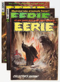 Magazines:Horror, Eerie Group (Warren, 1966-77) Condition: Average VF.... (Total: 9 Comic Books)