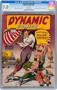 Dynamic Comics #1 (Chesler, 1941) CGC FN/VF 7.0 White pages