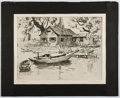 Books:Prints & Leaves, Lionel Barrymore. Two Reproductions of Etchings. Approx. 11.75 x14.75 inches. Good....