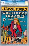 Golden Age (1938-1955):Miscellaneous, Classic Comics #16 Gulliver's Travels - HRN 18/20 Queens Home News Edition (Gilberton, 1944) CGC NM- 9.2 Off-white to white pa...