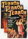 Pulps:Horror, Terror Tales Group (Popular, 1935) Condition: Average VG-....(Total: 6 Items)