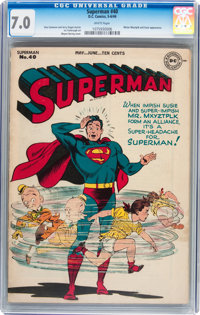 Superman #40 (DC, 1946) CGC FN/VF 7.0 White pages