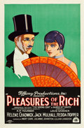 "Movie Posters:Drama, Pleasures of the Rich (Tiffany, 1926). One Sheet (27"" X 41"") StyleB.. ..."