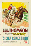 "Movie Posters:Western, Silver Comes Thru (FBO, 1927). One Sheet (27"" X 41"") Style B.. ..."