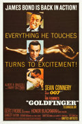 "Movie Posters:James Bond, Goldfinger (United Artists, 1964). One Sheet (27"" X 41"") MatteFinish Style.. ..."