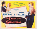 "Movie Posters:Film Noir, The Lady from Shanghai (Columbia, 1947). Half Sheet (22"" X 28"")Style B.. ..."