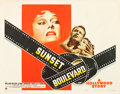 "Movie Posters:Film Noir, Sunset Boulevard (Paramount, 1950). Half Sheet (22"" X 28"").. ..."