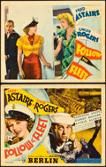 "Movie Posters:Musical, Follow the Fleet (RKO, 1936). Title Lobby Card and Lobby Card (11""X 14"").. ... (Total: 2 Items)"