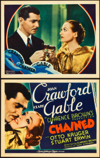 """Chained (MGM, 1934). Title Lobby Card and Lobby Card (11"""" X 14""""). ... (Total: 2 Items)"""