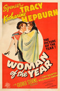 "Movie Posters:Comedy, Woman of the Year (MGM, 1942). Katharine Hepburn Autographed OneSheet (27"" X 41"") Style D.. ..."