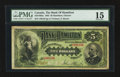 Canadian Currency: , Hamilton, ON - The Bank of Hamilton $5 June 1, 1892 Ch. #345-16-02a. ...