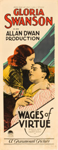 "Movie Posters:Romance, Wages of Virtue (Paramount, 1924). Insert (14"" X 36"").. ..."