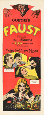 "Faust (MGM, 1926). Insert (14"" X 36"")"