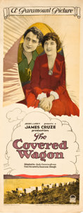 "Movie Posters:Western, The Covered Wagon (Paramount, 1923). Insert (14"" X 36"").. ..."