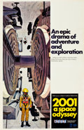 "Movie Posters:Science Fiction, 2001: A Space Odyssey (MGM, 1968). Cinerama One Sheet (27"" X 41"")Style C.. ..."