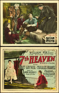 "Movie Posters:Romance, 7th Heaven (Fox, 1927). Title Lobby Card and Lobby Card (11"" X14"").. ... (Total: 2 Items)"