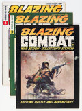 Magazines:Miscellaneous, Blazing Combat #1, 3, and 4 Group (Warren, 1964).... (Total: 3Comic Books)