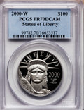 Modern Bullion Coins, 2000-W P$100 One-Ounce Platinum Eagle PR70 Deep Cameo PCGS....