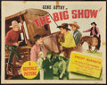 "Movie Posters:Western, The Big Show (Republic, R-1940s). Half Sheet (22"" X 28"") Style B. Western.. ..."