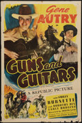 """Movie Posters:Western, Guns and Guitars (Republic, R-1940s). One Sheet (27"""" X 41"""").Western.. ..."""