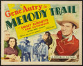 "Movie Posters:Western, Melody Trail (Republic, R-1940s). Half Sheet (22"" X 28"") Style B.Western.. ..."
