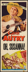 """Movie Posters:Western, Oh, Susanna! (Republic, R-1930s). Stock Insert (14"""" X 36"""").Western.. ..."""