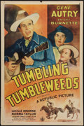 "Movie Posters:Western, Tumbling Tumbleweeds (Republic, R-1940s). One Sheet (27"" X 41"").Western.. ..."