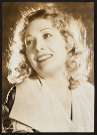 "Edwina Booth (MGM, 1932). Portrait Photo (9"" X 12.5""). Adventure"
