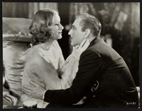 "Greta Garbo and John Barrymore in Grand Hotel (MGM, R-1943). Portrait Photo (10"" X 13""). Academy Award Winners..."