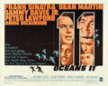 "Movie Posters:Crime, Ocean's 11 (Warner Brothers, 1960). Half Sheet (22"" X 28"").. ..."
