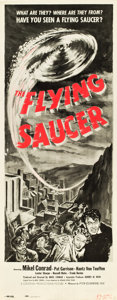 "Movie Posters:Science Fiction, The Flying Saucer (Film Classics, Inc., 1950). Insert (14"" X 36"").From the collection of Wade Williams.. ..."