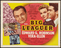 "Big Leaguer (MGM, 1953). Half Sheet (22"" X 28"") Style A. Sports"