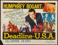 "Deadline, U.S.A. (20th Century Fox, 1952). Half Sheet (22"" X 28""). Drama"