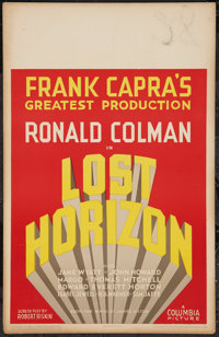 "Lost Horizon (Columbia, 1937). Window Card (14"" X 22""). Fantasy"