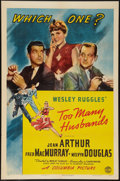 "Movie Posters:Comedy, Too Many Husbands (Columbia, 1940). One Sheet (27"" X 41"") Style B.Comedy.. ..."