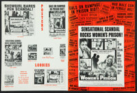 """Women's Prison & Others Lot (Columbia, 1955). Pressbooks (3) (Multiple Pages, 12"""" X 16"""", 11"""" X 17..."""