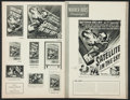 """Movie Posters:Science Fiction, Satellite in the Sky & Others Lot (Warner Brothers, 1956). Uncut Pressbooks (4) (Multiple Pages, 9"""" X 12"""", 11"""" X 14"""", & 11"""" ... (Total: 4 Items)"""