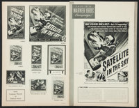"Satellite in the Sky & Others Lot (Warner Brothers, 1956). Uncut Pressbooks (4) (Multiple Pages, 9"" X 12""..."