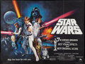 "Movie Posters:Science Fiction, Star Wars (20th Century Fox, 1977). British Quad (30"" X 40"") Academy Award Style C. Science Fiction.. ..."