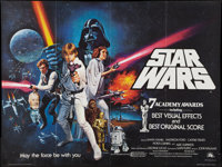 "Star Wars (20th Century Fox, 1977). British Quad (30"" X 40"") Academy Award Style C. Science Fiction"