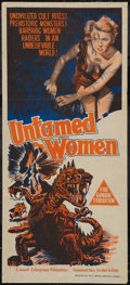 """Movie Posters:Science Fiction, Untamed Women (United Artists, 1952). Australian Daybill (13.5"""" X30""""). Science Fiction.. ..."""